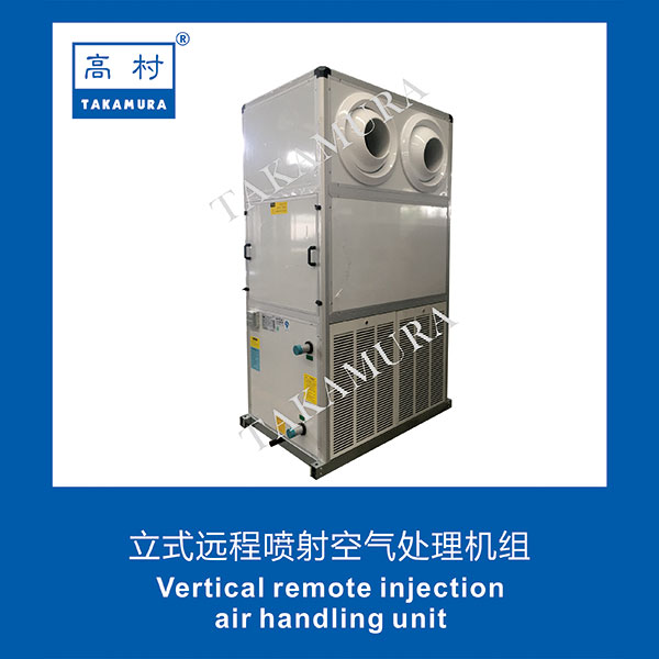 Vertical remote injection air handling unit
